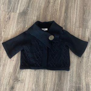 Tibi cropped cardigan black size XS